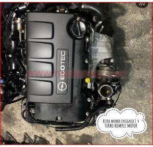 Opel Astra 1.4 Turbo Komple Motor